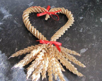 Large corn dolly heart