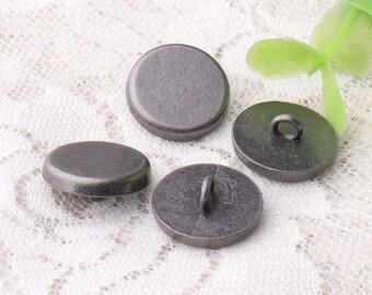smooth buttons 15*6mm buttons 10pcs shirt button zinc alloy light black button shank buttons metal buttons