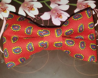 Paisley Red Bow-tie