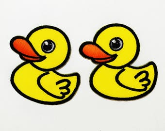 Set 2 pcs Duck Baby Embroidered Sew Iron On Patch Applique DIY