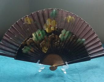 Vintage wooden hand fan