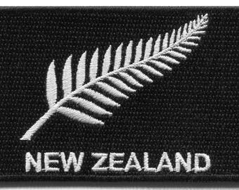 New Zealand silver fern flag embroidered applique iron-on patch