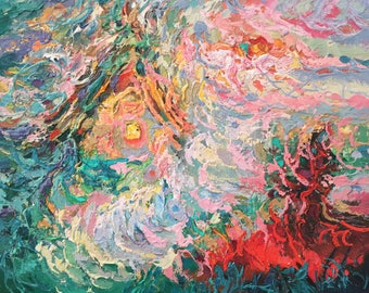 "Fedir Panchuk original oil painting on canvas ""Alone"""