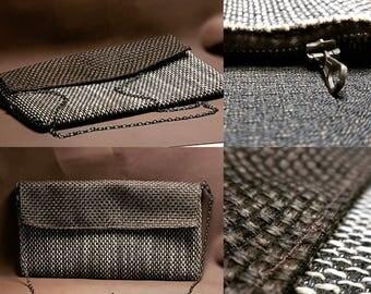 Textured Fabric clutch Bag
