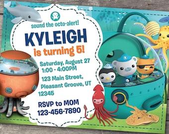 Octonauts Invitation, Octonauts Birthday, Octonaut Party, Octopod Invitations, Deep Sea Personalized Digital Invite, Printable Card Invites