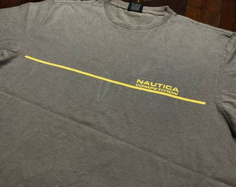 Vintage 90s Nautica Competition T-Shirt size L 2-side