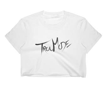 TrouMode Logo Women's Crop Top in White