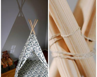 Teepee Set with floor mat #Tipi Moro style #Play tent for boys