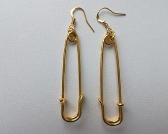 Original metal earrings, Earrings with a pin, Metal earrings, Gift for a girl, Fashion earrings, ,earrings from pins, metal earrings