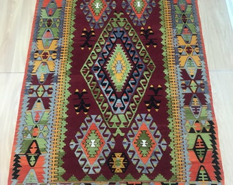 Turkish Vintage kilim Rug 9.1x4.9 feet Anatolian Cal carpet,Turkish kilim,decorative Carpet FREE SHIPPING