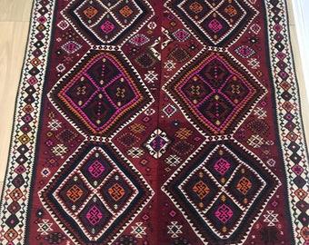 Turkish Vintage Area kilim 7.3x6.5 Hakkari Natural colored Oversize Carpet Anatolian Carpet Turkish kilim FREE SHIPPING