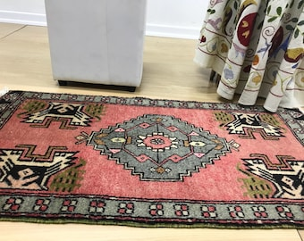3.7x1.8Feet,Small Carpet,Anatolian Carpet,door mate rug,free shiping