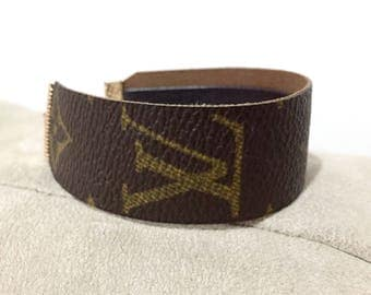 Upcycled LV Bracelet