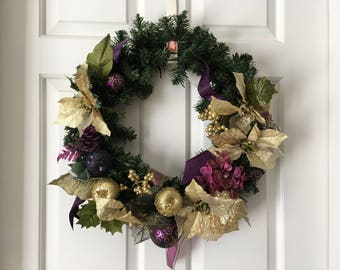 Gold and Plum Extravagance