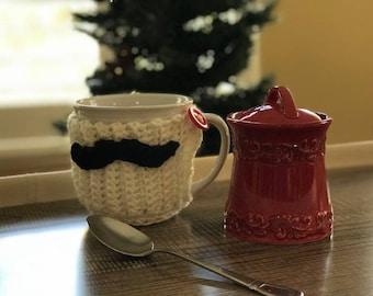 Crochet Mustache Mug Hug
