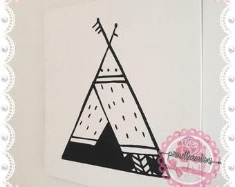 """canvas painting """"tipi"""" - personalization option"""