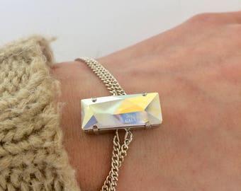 Bracelet with Cabochon Swarovski, Bracelet, Minimalistic Bracelet