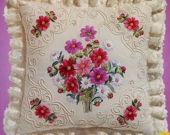 Janlynn Candlewicking Embroidery Kit Cosmos