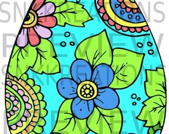 colorful easter egg SVG PNG Cut File