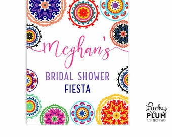 Fiesta Welcome Sign / Fiesta Bridal Shower Sign / Fiesta Bachelorette Sign / Mexican Welcome Sign / DIY Printable FT01