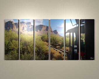 Goldfield Mine Train Six-panel Print