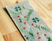 Custom order for Kate - Handmade botanical linen bookmark