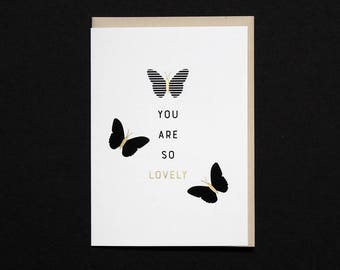 Lovely Butterflies Greeting Card - Foil Printed