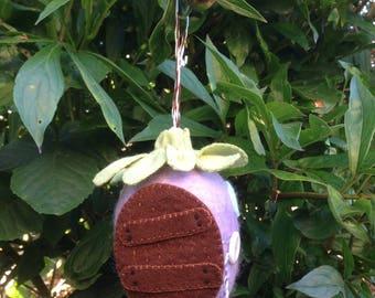 Lavender Hanging Wool Hobbit House Egg