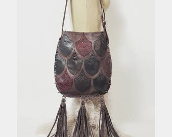 Cocoa Three Tassel Scale Bag