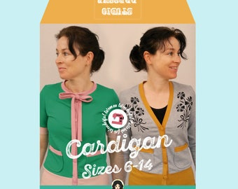 Studio dressme women – Pattern Set retro style cardigan – instant download includes US sizes 6-14/ EU sizes 36-44