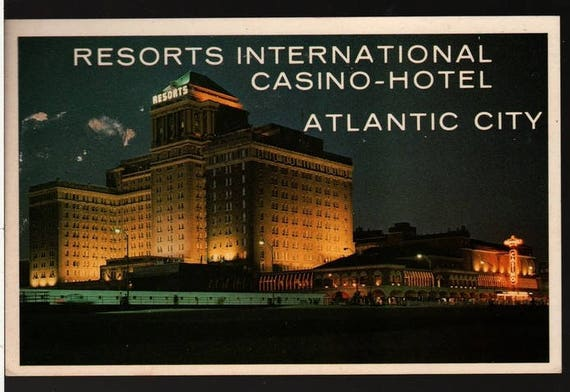 Resorts International Casino - Hotel - Atlantic City, New Jersey - Vintage Souvenir Postcard