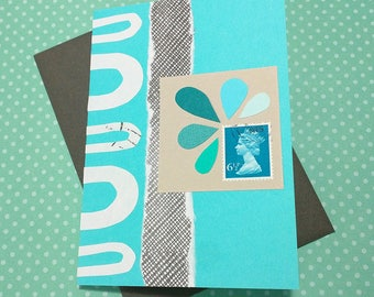 Abstract Turquoise // Cards For All Occasions