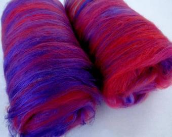 3.5oz spinning batts, merino silk, batts for felting, batts for spinning, felting fiber, spinning fiber, fiber batts,batting,batt,wool batts