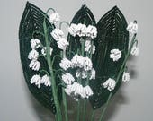 Beaded Flower Lily of The Valley French Beaded Flowers