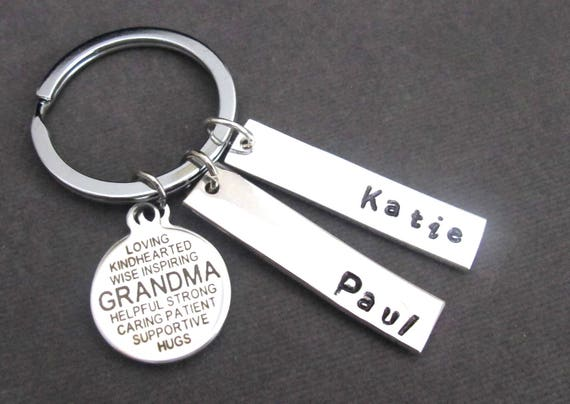 Grandma Keychain,Grandma Quote Key Chain,Grandma Gift,Gift from Grandchildren,Custom Grandmother Keychain,Grandma jewelry, Free Shipping USA
