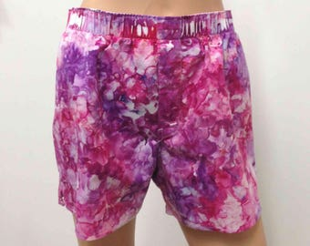 Boxer Shorts US Size M 32-34 GAP Hand Dyed Medium Mens Underwear Underpants Skivvies Fun Colorful Playful Novelty Red Purple Lilac Lavender