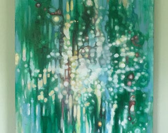 abstract number 5 painting