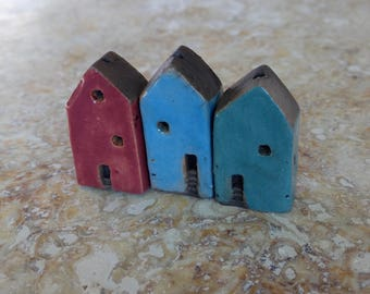 RESERVED,house beads, kiln fired,clay