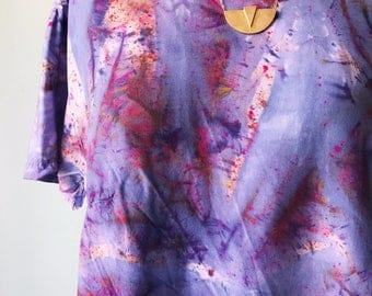 One of a Kind, Hand Dyed Scoop Neck Blouse in Galaxy, Anna Joyce, Portland, OR