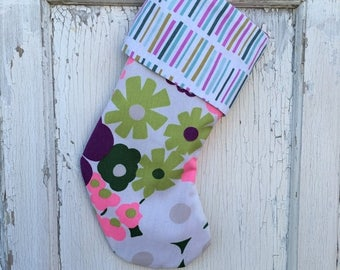 ECLIPSE SALE- Vintage Floral Stocking -Christmas Stocking