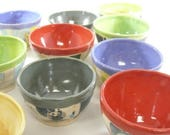 Prep bowls, Small ceramic bowl, Mother's Day Gift Pottery for cooking and food prep, small bowl pottery and ceramics, gift under 25