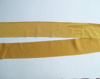 Nylon Lycra Spandex BINDING 1-1/2 in. Inca Yellow GOLD 5 yds Tape Straight Cut TAPE