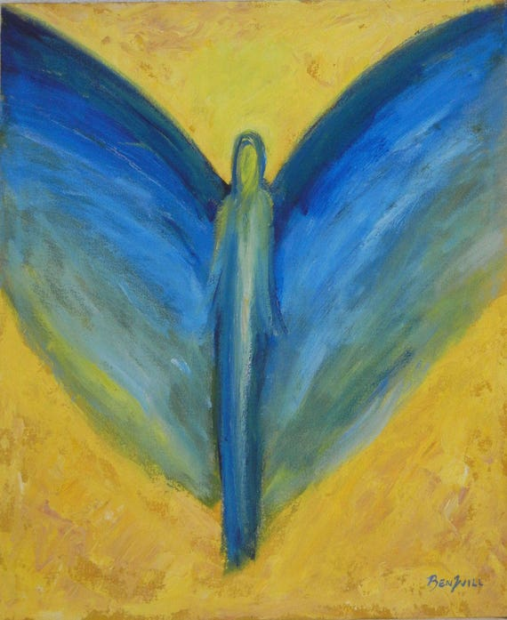 Angel Joyful Dreams Vision of Angels Print of an Original Painting by artist BenWill