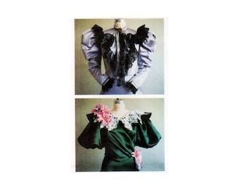 Original uncut Victorian Bodice Costume pattern size 4-26 Dickens Faire Plus Size Edwardian Bodice Caroling costume Laughing Moon 103