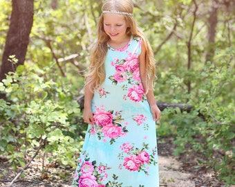 Girls maxi dress   Etsy