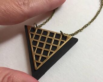 Black grid triangle