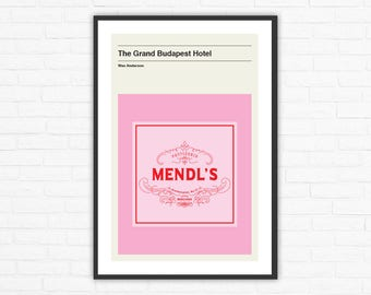 Wes Anderson, The Grand Budapest Hotel Mendl's Box Minimalist Movie Poster