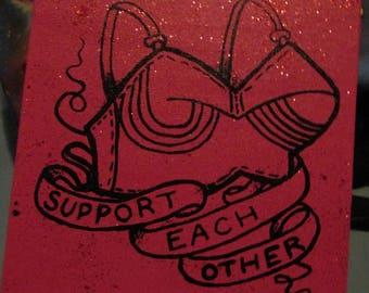 Support Each Other  glitter ART