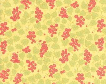 Hazel and Plum - Berries in Sunset Yellow: sku 20297-14 cotton quilting fabric by Fig Tree and Co. for Moda Fabrics