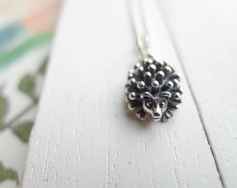 Hedgehog Necklace Sterling Silver Charm Woodland Creatures Gift so Cute